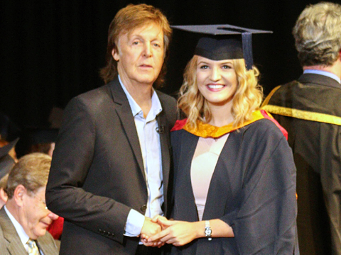 Sophie and Paul McCartney at her LIPA Graduation